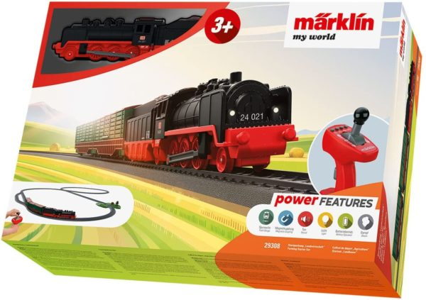 Märklin My World - Tren a vapor con granja
