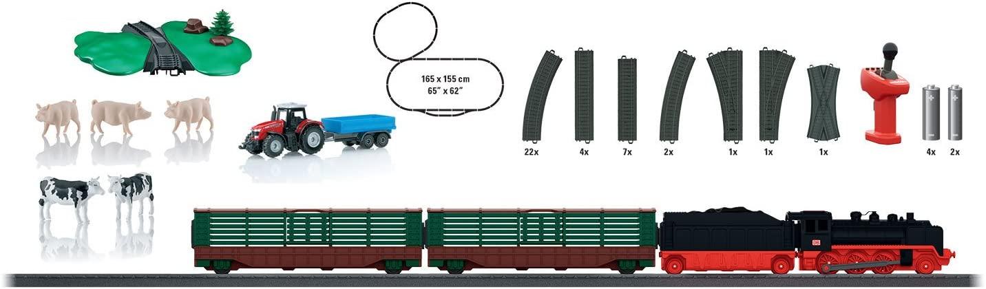 Circuito tren a vapor con granja