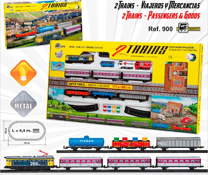 Circuito de trenes para niños y niñas de 4 a 7 años